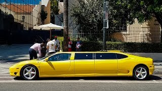 WTF I Found a FERRARI LIMO in Hollywood
