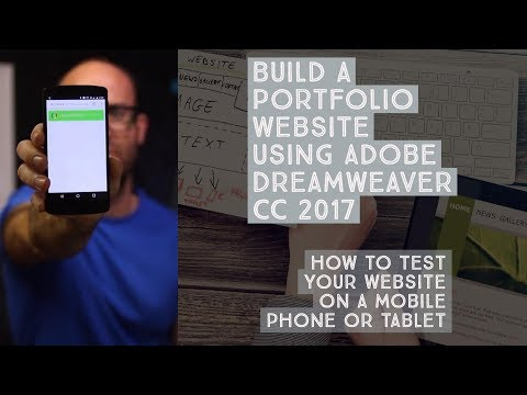 How to test your website on a mobile phone or tablet - Dreamweaver Templates [12/38]