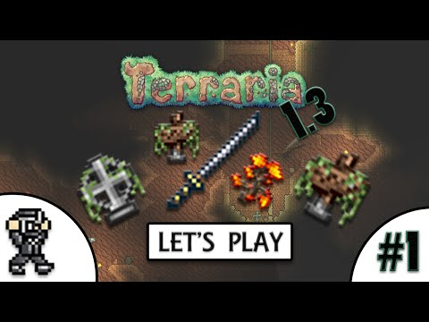 Terraria 1.3 Let's Play #1 (NORMAL MODE) - Becoming a Ninja