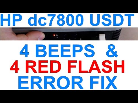 redigitt #072 How to fix HP Compaq dc7800 USDT PC 4 beeps 4 red flash error