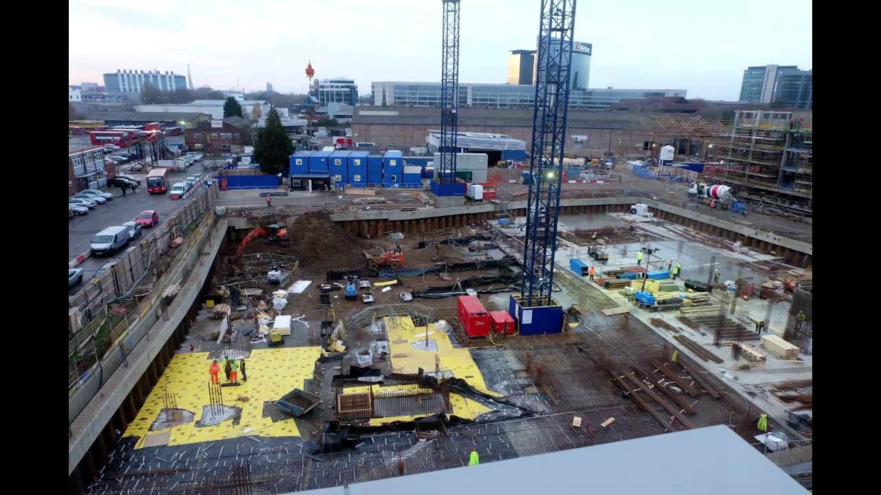 Brentford Lock West 1 Construction Time Lapse