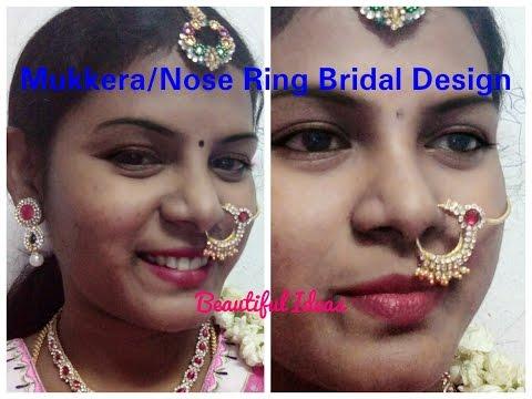 DIY/ Mukkera / Nose Ring Bridal Design Making at Home ./Silk thread Mukkera Easy Tutorial at Home..