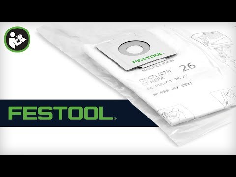 Festool Self-Cleaning Filter Bag for CT MINI, MIDI, 26, 36 and 48