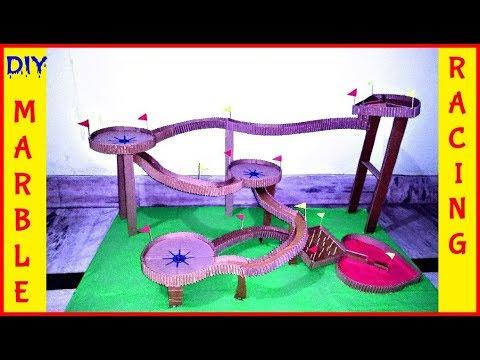 DIY | How To Make Marble Run Machine From Cardboard | Marble Racing
