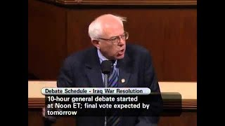 Bernie's Speech Opposing lráq Perfectly Predicted The Fallout
