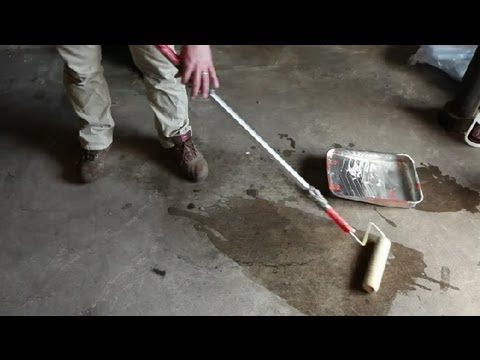 How Do I Stain Old Concrete Floors? : Concrete Floors