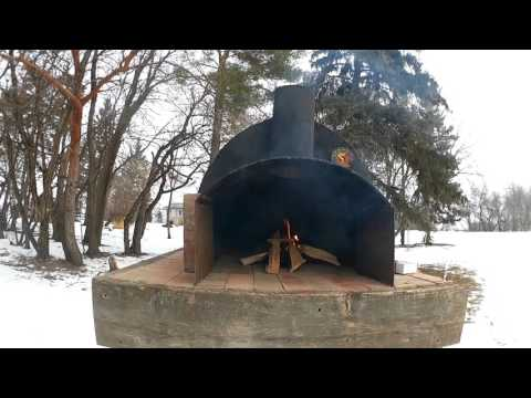 First fire in homemade pizza oven