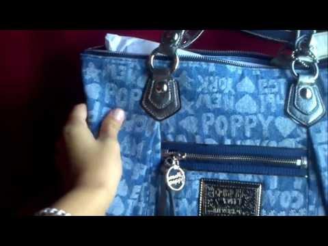 Coach Poppy Wordblock Glam Tote Bag