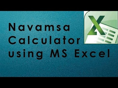 Navamsa Calculator using MS Excel