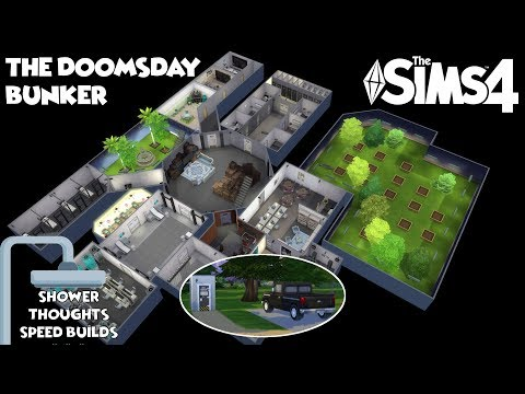 The Doomsday Bunker | The Sims 4 Shower Thoughts Builds