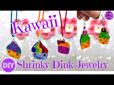 DIY KAWAII SHRINKY DINK JEWELRY!  SO CUTE!!