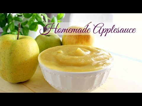 Unsweetened Applesauce recipe/ La Purea di Mele senza zucchero ricetta