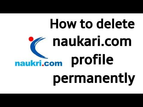 how to delete naukari.com profile permanently