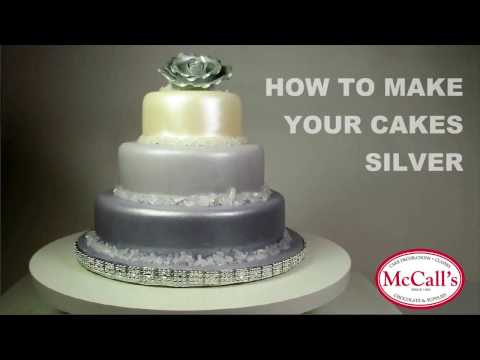 How to make your cakes Silver