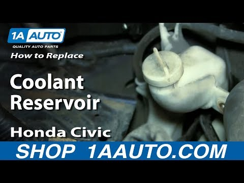 How to Install Replace Coolant Reservoir 2001-05 Honda Civic (Except Hatchback)