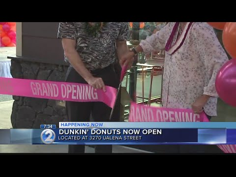 Dunkin' Donuts celebrates Hawaii return with grand opening of first restaurant