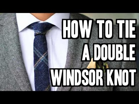 How To Tie A Double Windsor Knot Step By Step Slowly ( Beginners )