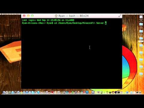 How to Make a Minecraft 1.8 server (Mac)