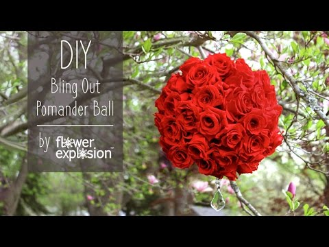Rose Pomander ball DIY Wedding decor