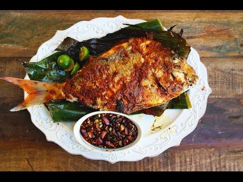Grilled Fish Stuffed With Sambal