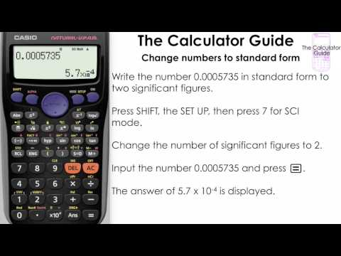 Change numbers to Standard Form [Science notation] using SCI mode (Casio calculator, , fx-83GT)