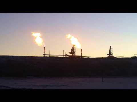FLARE OFF...  North Dakota Oil Field.