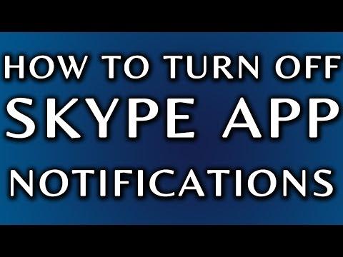 How To Turn Off Skype Notifications: Skype Mobile App