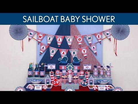 Sailboat Baby Shower Ideas // Sailboat - S42