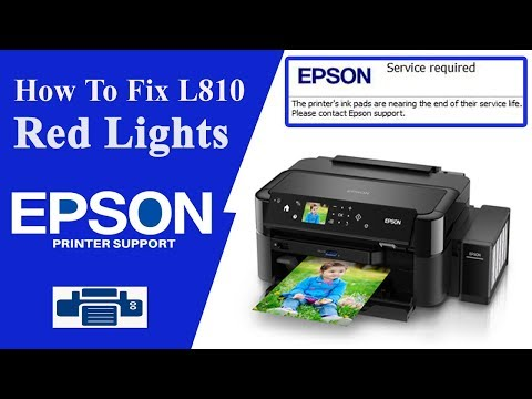 Epson L810 Resetter, L805 Service Required Error || How to Reset ||