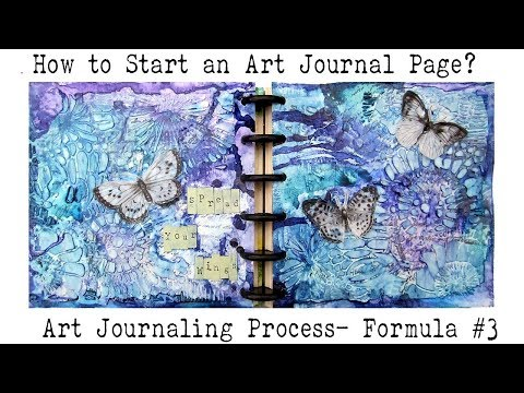 Art Journal for Beginners | How to  Art Journal? |  Starting a Blank Page | Formula #3