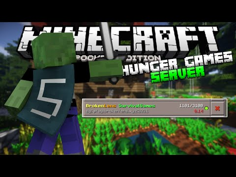 Minecraft PE Hunger Games Server - MCPE Brokenlens Server (Pocket Edition Survival Games)