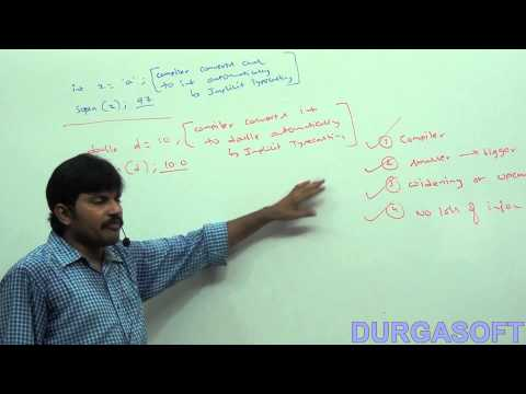 Java operators : type   cast operators  - part -1