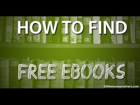 How To Find Free E-Books