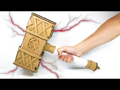 How To Make a Paper Hammer | Thor Hammer DIY