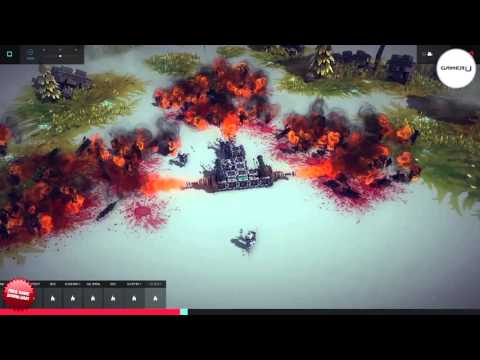 Besiege - Use Flamethrowers For Crowd Control