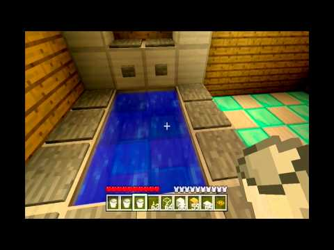Minecraft Xbox 360 : How to build a bathroom with WORKING shower.