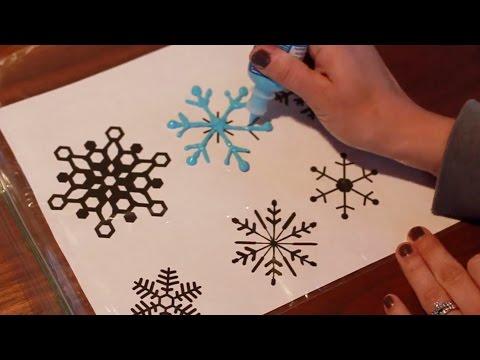 Snowflake Window Decals DIY