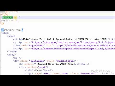 Append Data to JSON File using PHP