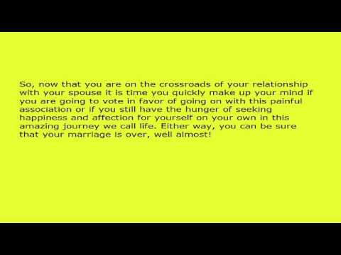 Is Your Marriage Really Over? Do You Want to Give It One Last Chance?.avi
