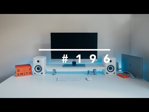 BUILDING MY WHITE MINIMALISTIC STANDING DESK SETUP