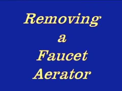 Removing faucet aerator