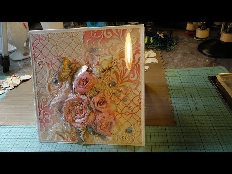 Bevelled Christmas #3 Card GIVEAWAY DIY Rose Tutorial Included