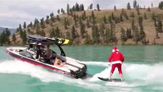 Santa Wakesurfing