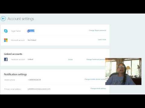 Skype login unlink Facebook