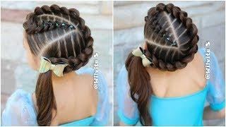 Peinado Para Ninas Trenzas Ovaladas Con Ligas Peinados Faciles Para