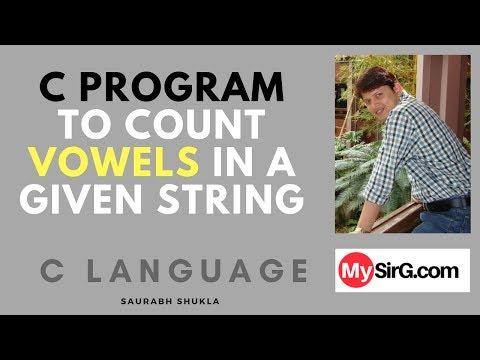 C Program to count vowels in a given string