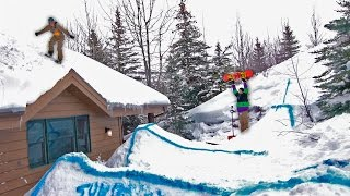 WE TURNED OUR BACKYARD INTO A SNOWBOARD PARK