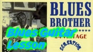 7 minute blues guitar lesson (Gritty Bar room Blues)