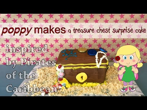Poppy Makes... a treasure chest surprise cake