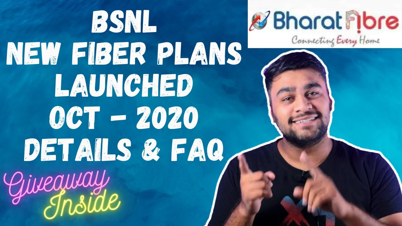 BSNL Fiber Latest Plans Oct 2020 Details And FAQ's | GIVEAWAY INSIDE ! Hindi